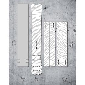 DYEDBRO Zebra Kit di Protezione del Telaio, trasparente/bianco